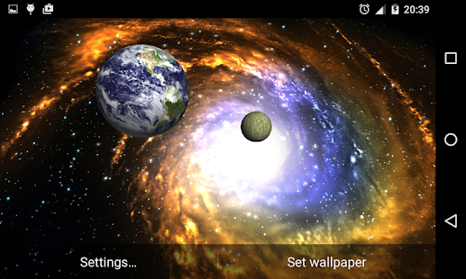 3D Galaxy Live Wallpaper- screenshot thumbnail