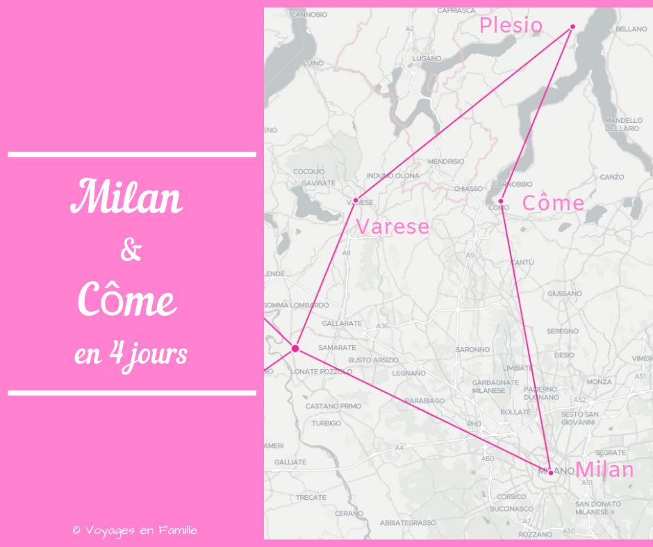 Itinéraire Milan