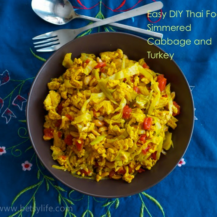 Simmered Cabbage with Turkey