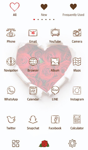 Wallpaper Rose Heart Theme 1.0.2 Windows u7528 3