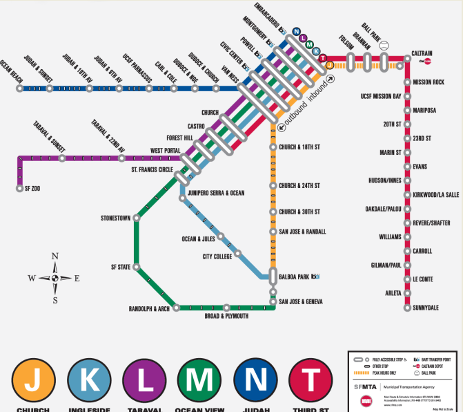 San Francisco Subway Map