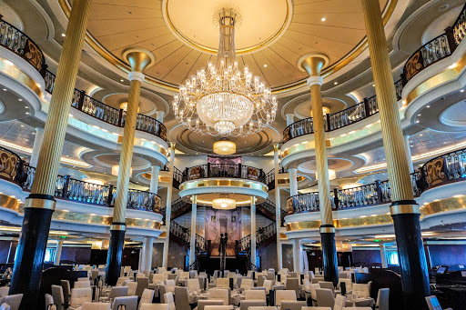 mariner-of-the-seas-main-dining-venue.jpg - Mariner of the Seas' main restaurant spans three decks and sports a musical theme.