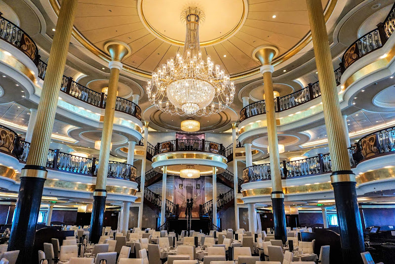Mariner of the Seas' main restaurant spans three decks and sports a musical theme.