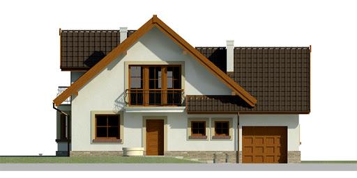 Dom przy Cyprysowej 25 - Elewacja przednia