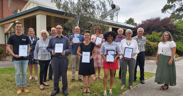 Winners of 2021 Bass Coast Citizen and Young Citizen of the Year