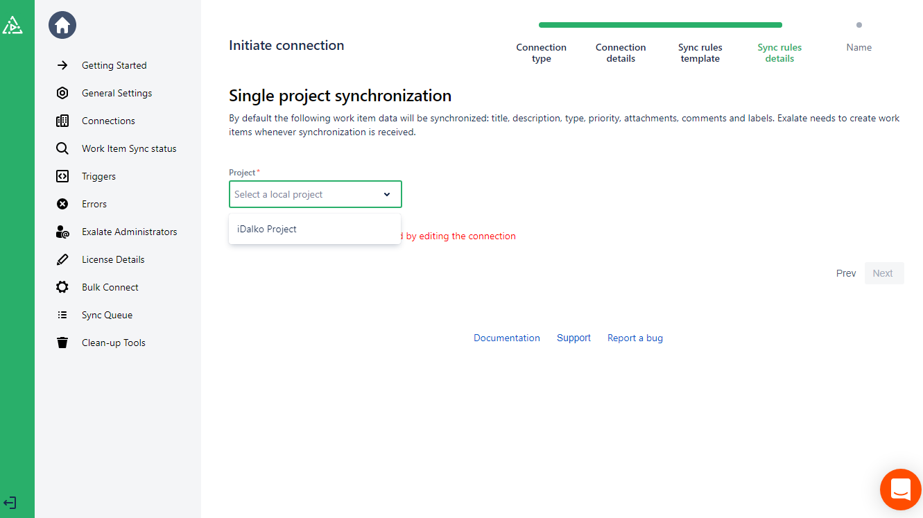 pick a sync project to integrate github and azure devops