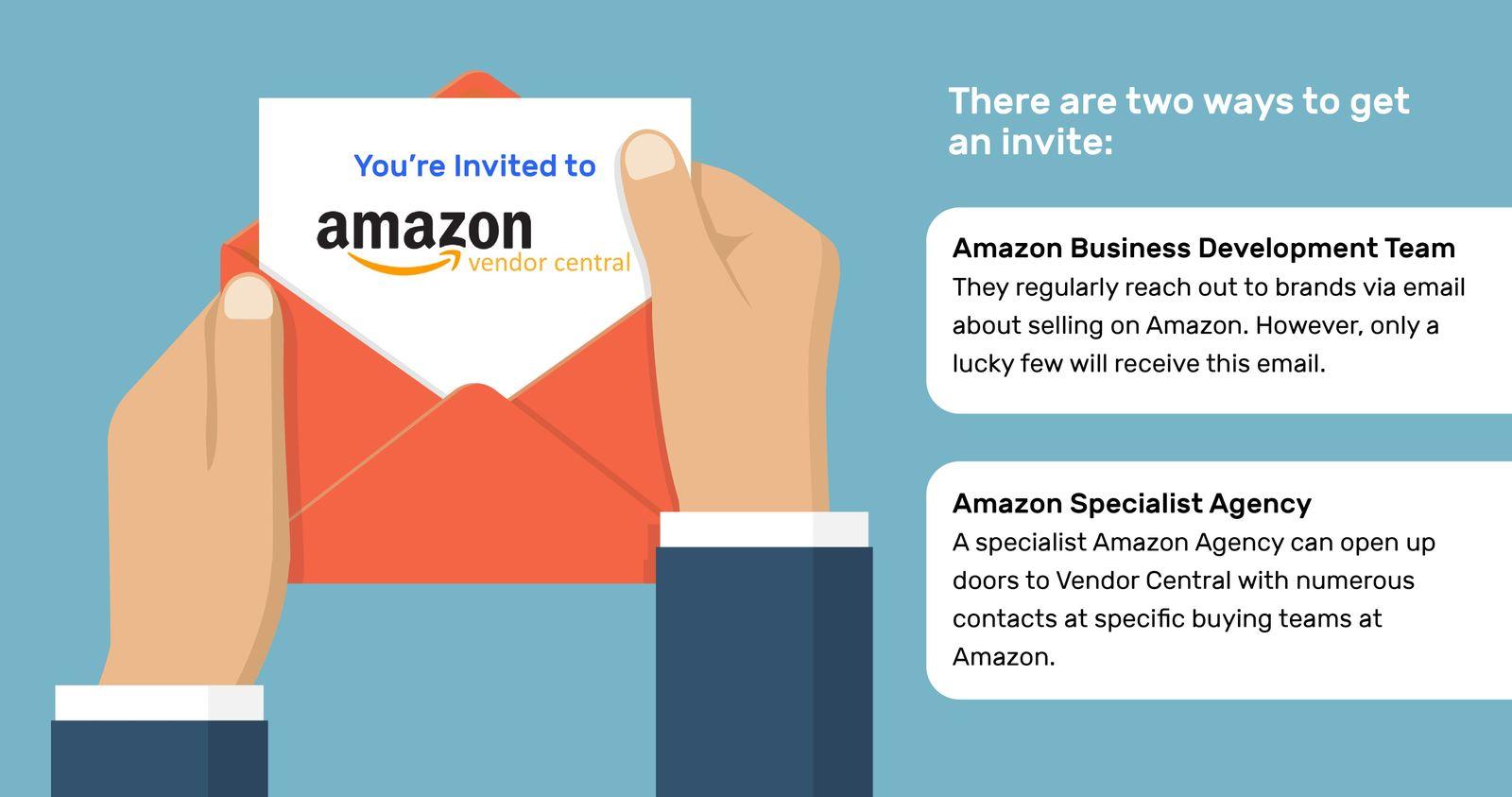 Amazon vendor central invitation