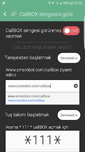 Arama Kaydedici / Çağrı Kaydedici - callBOX Ekran Görüntüsü