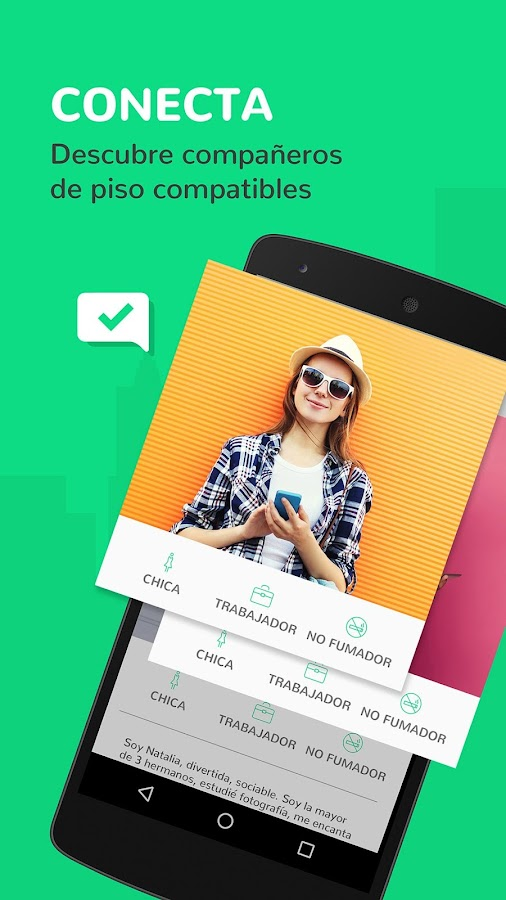 Badi alquiler habitaciones aplicaciones android en for Alquiler de habitaciones para 3 personas