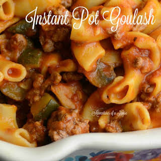 Instant Pot Goulash 12 Minute Meal.