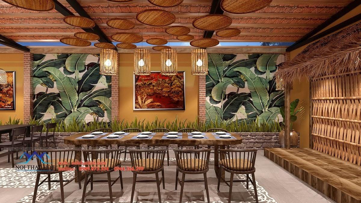 thiết kế nhà hàng đồng quê 7