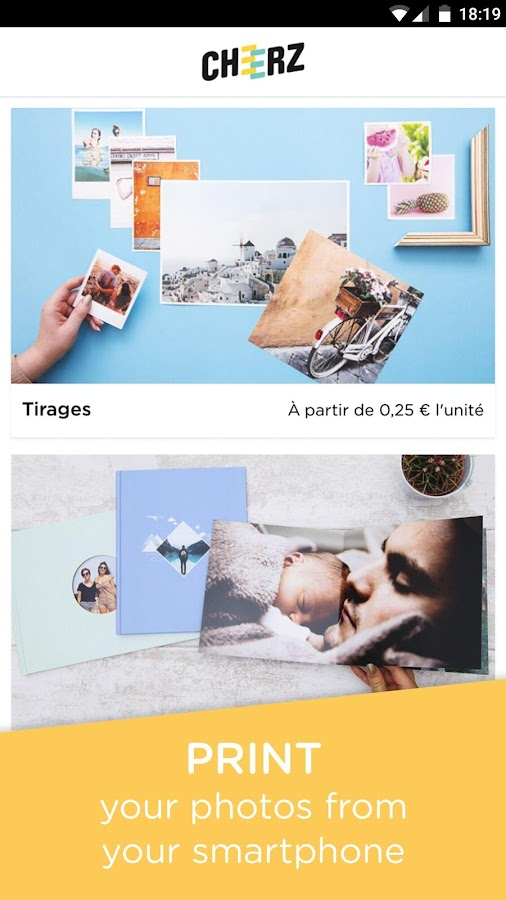 CHEERZ- Mobile Photo Printing: Prints,PhotoBooks..- screenshot