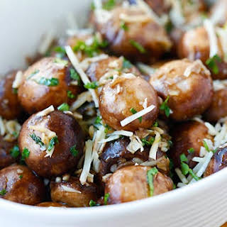 Garlic Herb Sauteed Mushrooms.