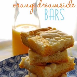 Orange Dreamsicle Bars.