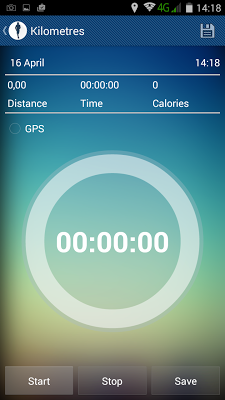 Kilometers: GPS Track Walk Run - screenshot