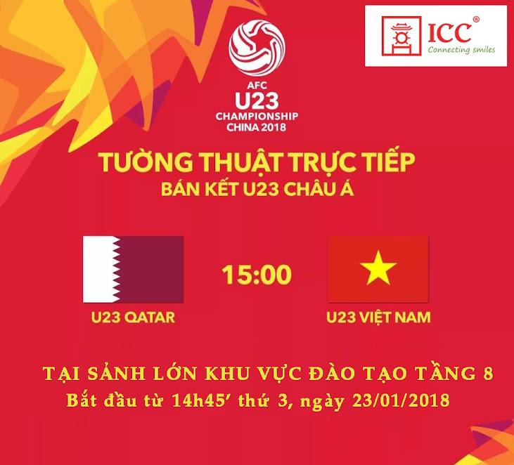 ICC Hà Nội cùng các bạn Du học sinh cổ vũ U23 Việt Nam trước trận bán kết U23 Châu Á