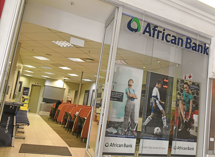 An African Bank branch. Picture: FREDDY MAVUNDA