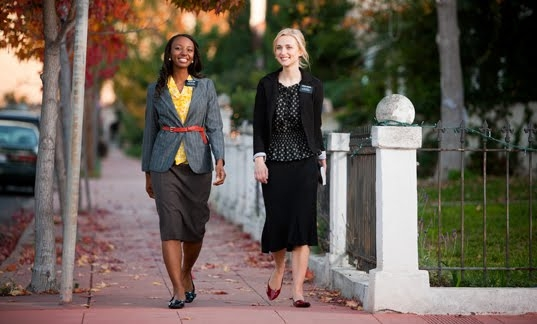 Sister Missionaries using fashion layering