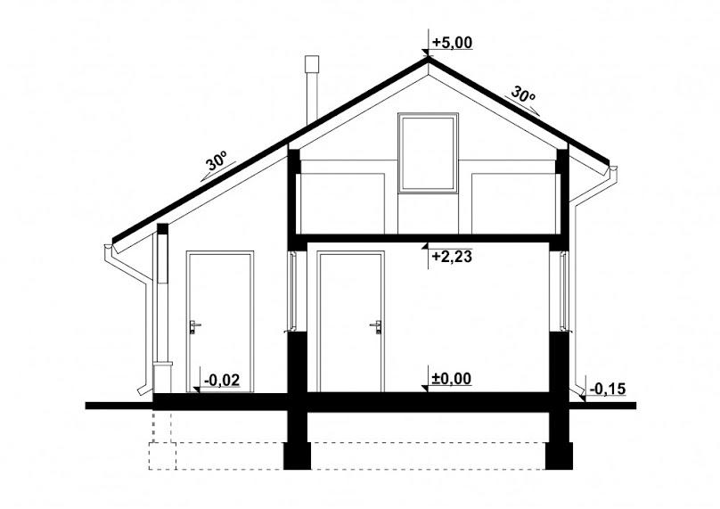 Projekt garażu z pomieszczeniem gospodarczym