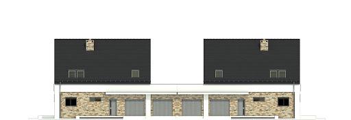 Bernikla II z garażem 2-st. bliźniak A1-BL1 - Elewacja przednia