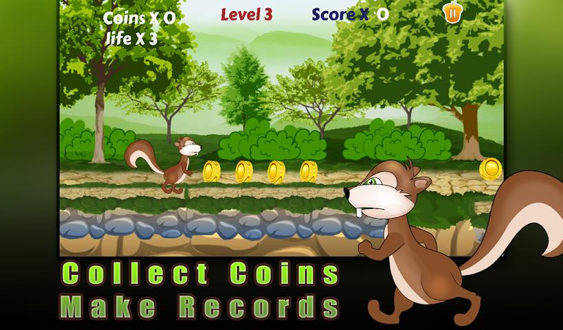 android Squirrel run-Ultimate runner Screenshot 1