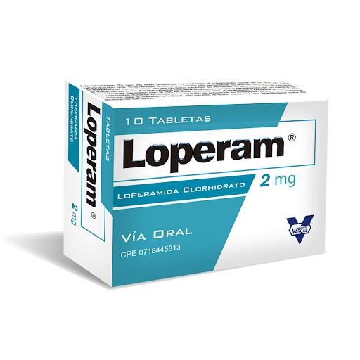 loperamida loperam 2mg 10tabletas vargas