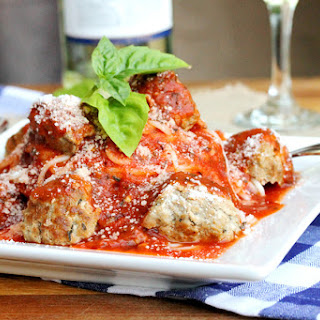 Pork Meatballs with Pasta in Tomato Wine Sauce