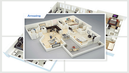 3D domácí půdorysy - náhled