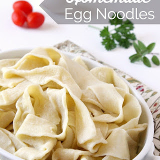 Homemade Egg Noodles.