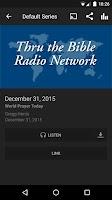 Screenshot of Thru The Bible Radio Network