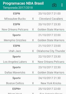 Programação NBA Brasil 2017-2018 - náhled