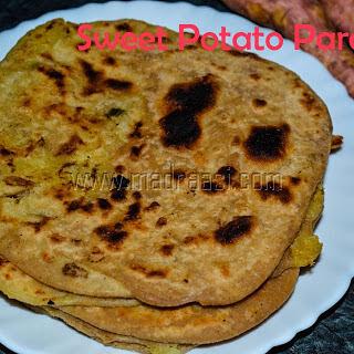 Sweet Potato Paratha with VIDEO.