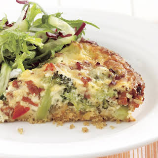 Chorizo and Vegetable Quiche.