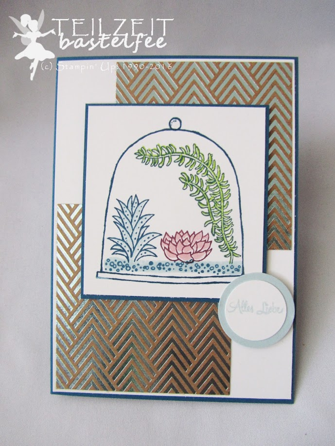 Stampin Up! – In{k}spire_me, Sketch Challenge, Live Love Grow, Bannerweise Grüße, Thoughtful Banners, Designerpapier Metallic-Glanz, Foil Frenzy DSP