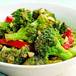 Spicy Stir-Fried Broccoli & Peanuts.