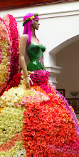 Photo: The Queen of Ambato's Festival of Flowers and Fruits at the Provincial Museum