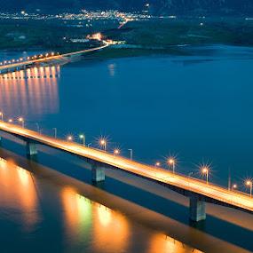 Bridge over the Polifitos Lake by Nikos Koutoulas - Buildings & Architecture Bridges & Suspended Structures ( water, πολυφύτου, kozani, pwclandmarks-dq, polifitos, γέφυρα, greece, ελλάδα, lake, bridge, κοζάνη, λίμνη )