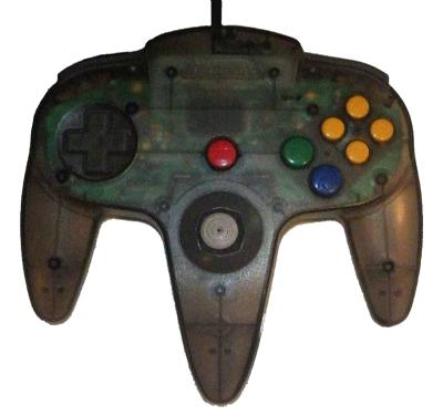 Nintendo 64 Handkontroll Svart/Smoke Black Transparent beg
