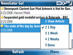 Top Posts feature in Newsgator Go!