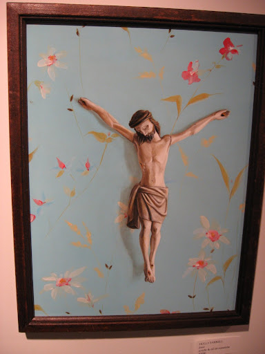 Jesus hanging on wall paper