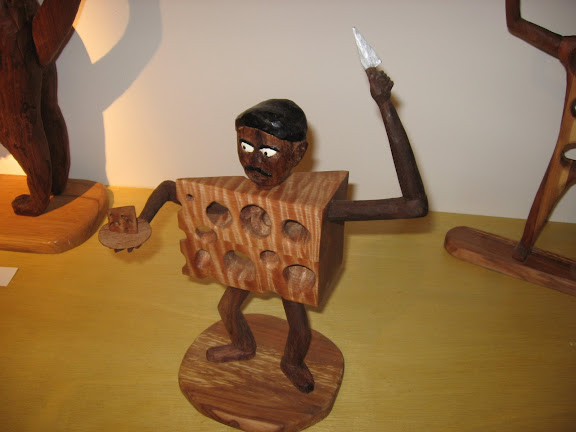 Kevin Titzers wooden cheese man