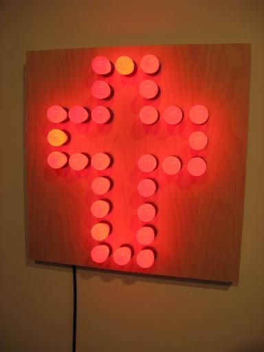 light bulbs making a cross