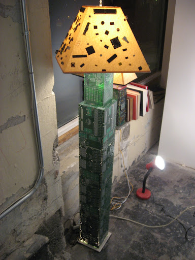 computer chip lamp