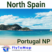 North Spain-Portugal GPS Map