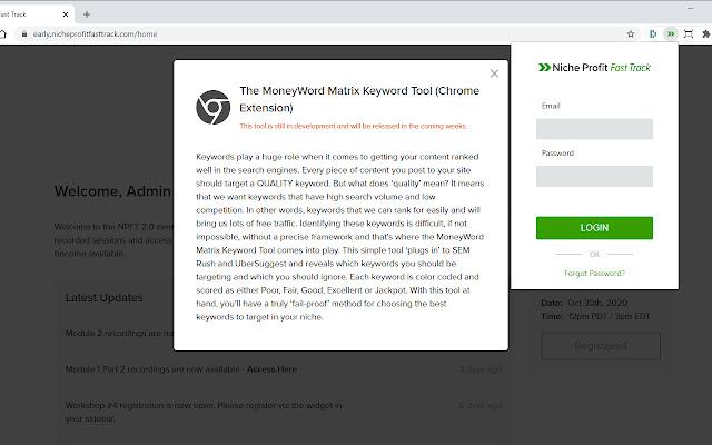 The MoneyWord Matrix Keyword Tool