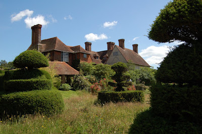 Topiary and rear of house