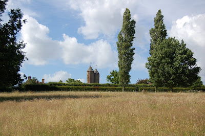 Tower viewed from field