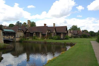 Village behind castle