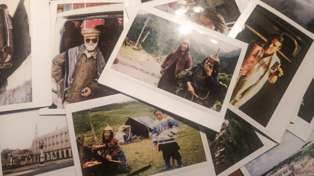A few ( i got some houndres) of the Polaroid photos i have taken of people over the years. The people in their photo have also gotten their own compy.