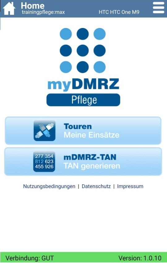 myDMRZ Pflege- screenshot